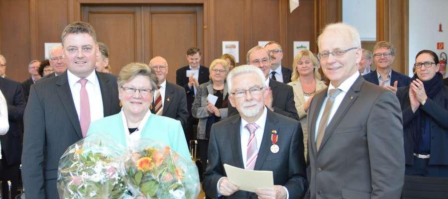 Delegacja z Malborka na uroczystości odznaczenia Lebrechta Forke