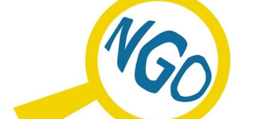 logo organizacji pozarządowych z napisem NGO