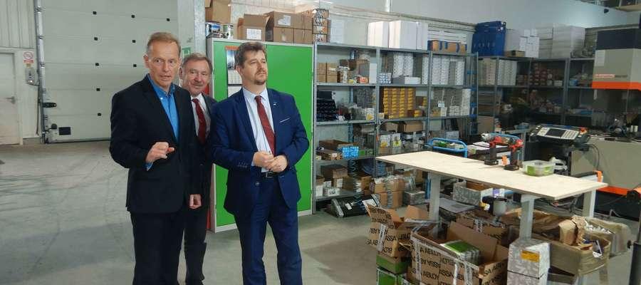 Burmistrz Miasta Malborka z wizytą w firmie PEMALUX