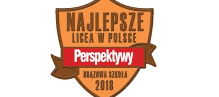 I LO im. Henryka Sienkiewicza z Brązową Tarczą w Rankingu Perspektyw