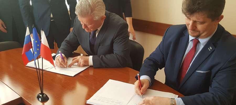 Coraz bliżej modernizacji bulwarów – burmistrz podpisał umowę partnerską z miastem Swietłyj