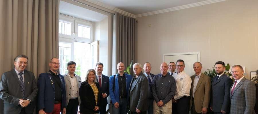 Delegacja Amerykańska w Malborku
