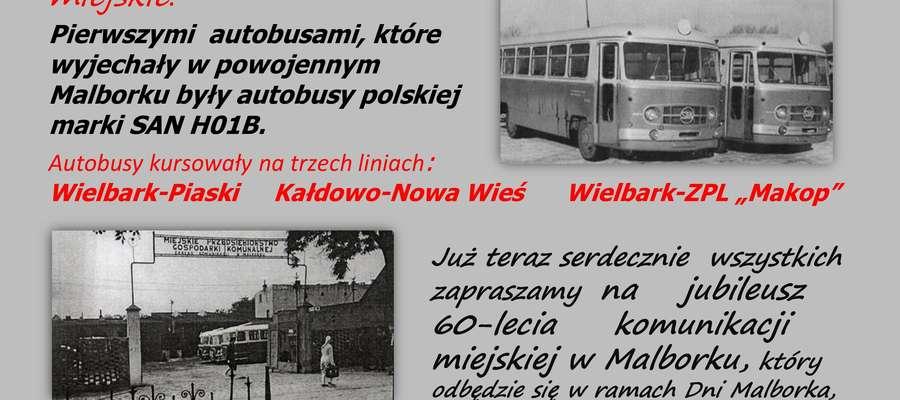 60 lat komunikacji autobusowej w Malborku