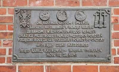 Tablica Sybiraków Ziemi Malborskiej