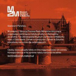 grafika z informacją o zamknięciu Muzeum