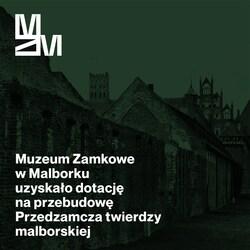na zdjęciu widać grafikę z logo Muzeum i informacją o dotacji