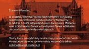 Koronawirus zamknął Muzeum Zamkowe w Malborku