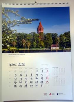 kartka z kalendarza ze zdjęciem wieży ciśnień