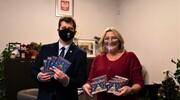 Życzenia noworoczne i płyty kolęd od Balbin dla burmistrza
