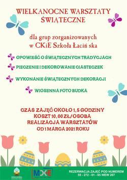 plakat z informacjami na temat warsztatów znajdującymi się w tekście