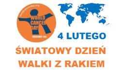 """grafika z datą i nazwą """"Światowy Dzień Walki z Rakiem"""""""