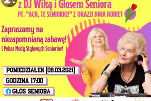 W Dzień Kobiet Internetowa Domówka dla Seniorów