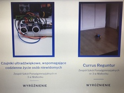 informacja o wyróżnieniu projektu ZSP nr 3  pt.: Currus Reguntur