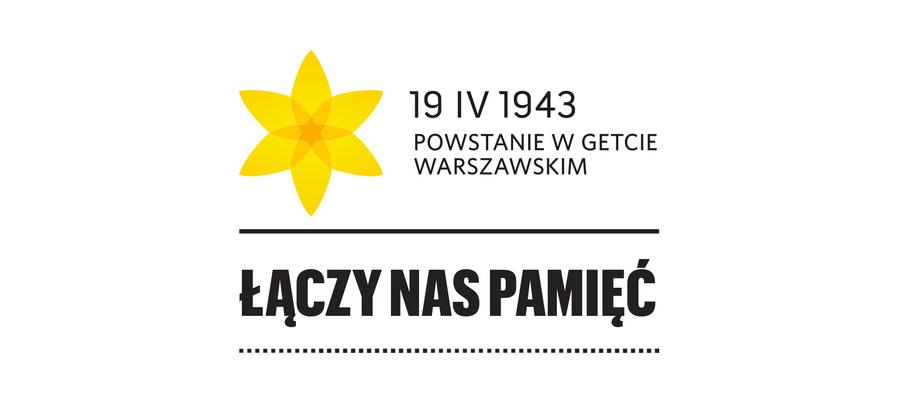 """data powstania, napisy """"Powstanie w Getcie Warszawskim"""" i """"Łączy nas pamięć"""""""