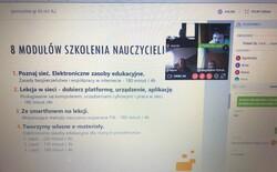 screen ekranu podczas szkolenia