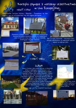 kolaż ze zdjęciami tablic z informacjami o projektach unijnych