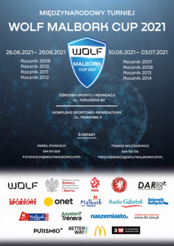 plakat z informacjami i logami sponsorów