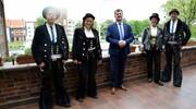 Wędrowni czeladnicy z Niemiec odwiedzili burmistrza
