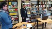 Spotkanie autorskie z Łukaszem Radeckim w malborskiej filii Pedagogicznej Biblioteki Wojewódzkiej