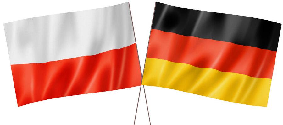 flaga Polski i Niemiec