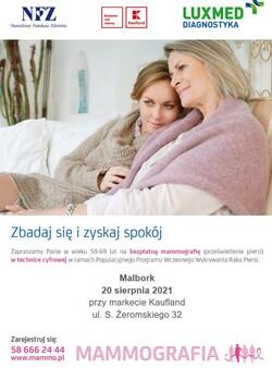 plakat z informacjami o akcji, zdjęcie dwóch przytulających się kobiet