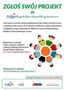 plakat z informacjami o MBOJ